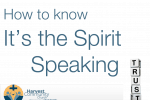 How to know it's the Spirit speaking