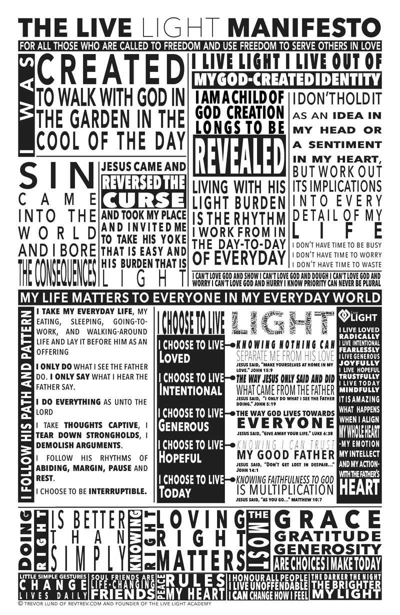 live loved in the live light manifesto