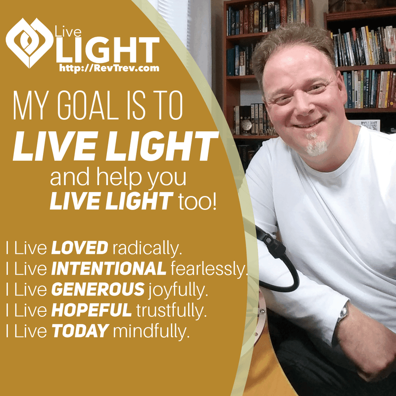 my goal is to live light